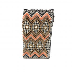PEARLY CHEVRON PHONE WALLET