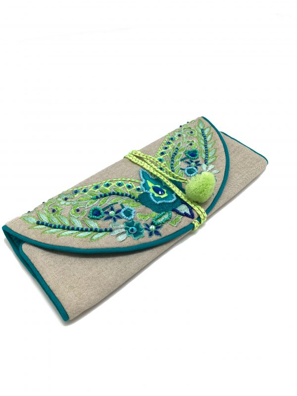 GREEN WITH ENVY JEWELRY ROLL