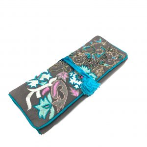 AQUA BLOOM JEWELRY ROLL