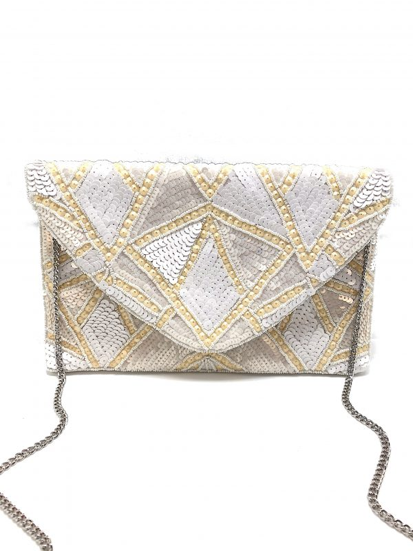 ALL WHITE SEQUINS CLUTCH