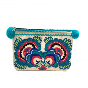 ONE WITH NATURE POUCH WITH POM POMS
