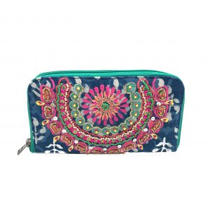 BATIC PRINT MULTI COLOR EMBROIDERED WALLET