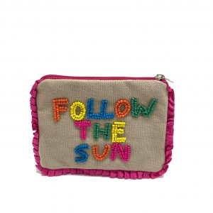 MULTI COLORED BEADED FOLLOW THE SUN POUCH