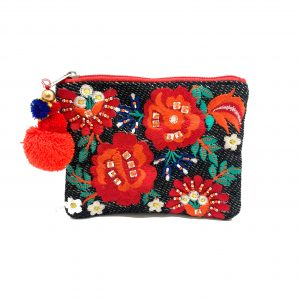 BRIGHT FLORAL COIN PURSE