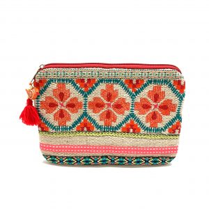 MULTI COLOR AZTEC POUCH