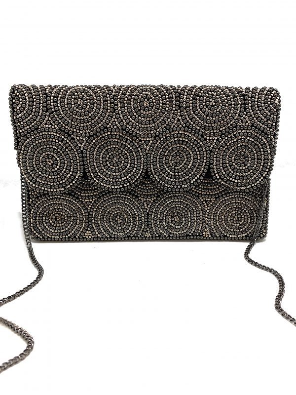 CIRCLE IN THE SAND SILVER CLUTCH