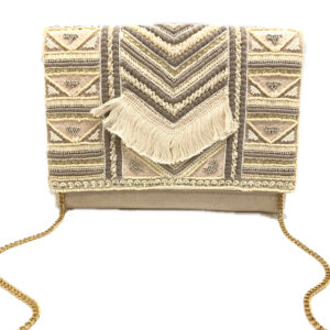 CREAM BOHO FRINGE BAG