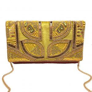 GOLDEN LIME EMBELLISHED BAG
