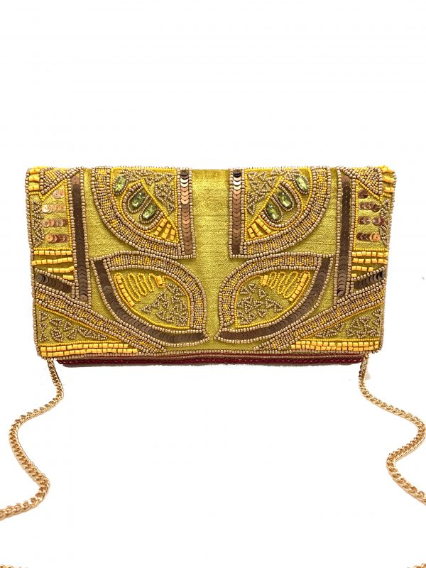 GOLDEN LIME EMBELLISHED BAG