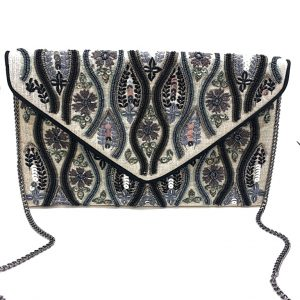 HOUR GLASS BEADED CLUTCH