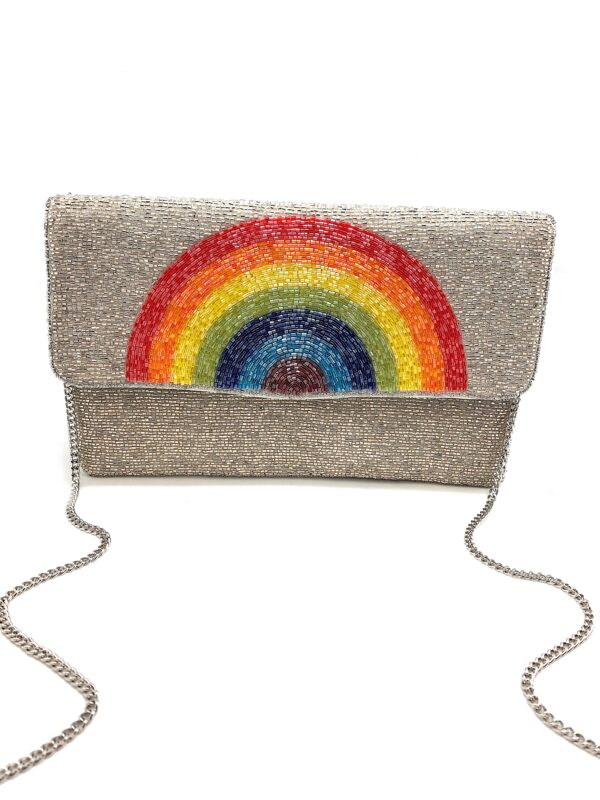 BEADED RAINBOW CLUTCH
