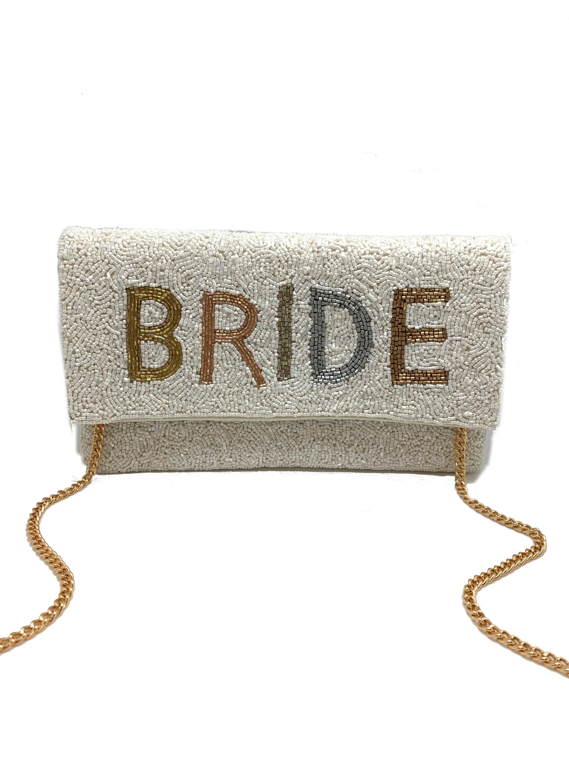 OMBRE BEADED BRIDE BAG