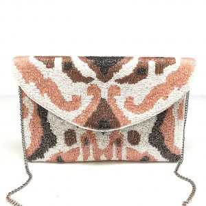 IKAT PRINT NUDE COLOR BAG