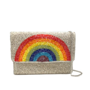 BEADED RAINBOW MINI CLUTCH