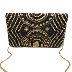 BLACK AND GOLD EGYPTIAN CLUTCH