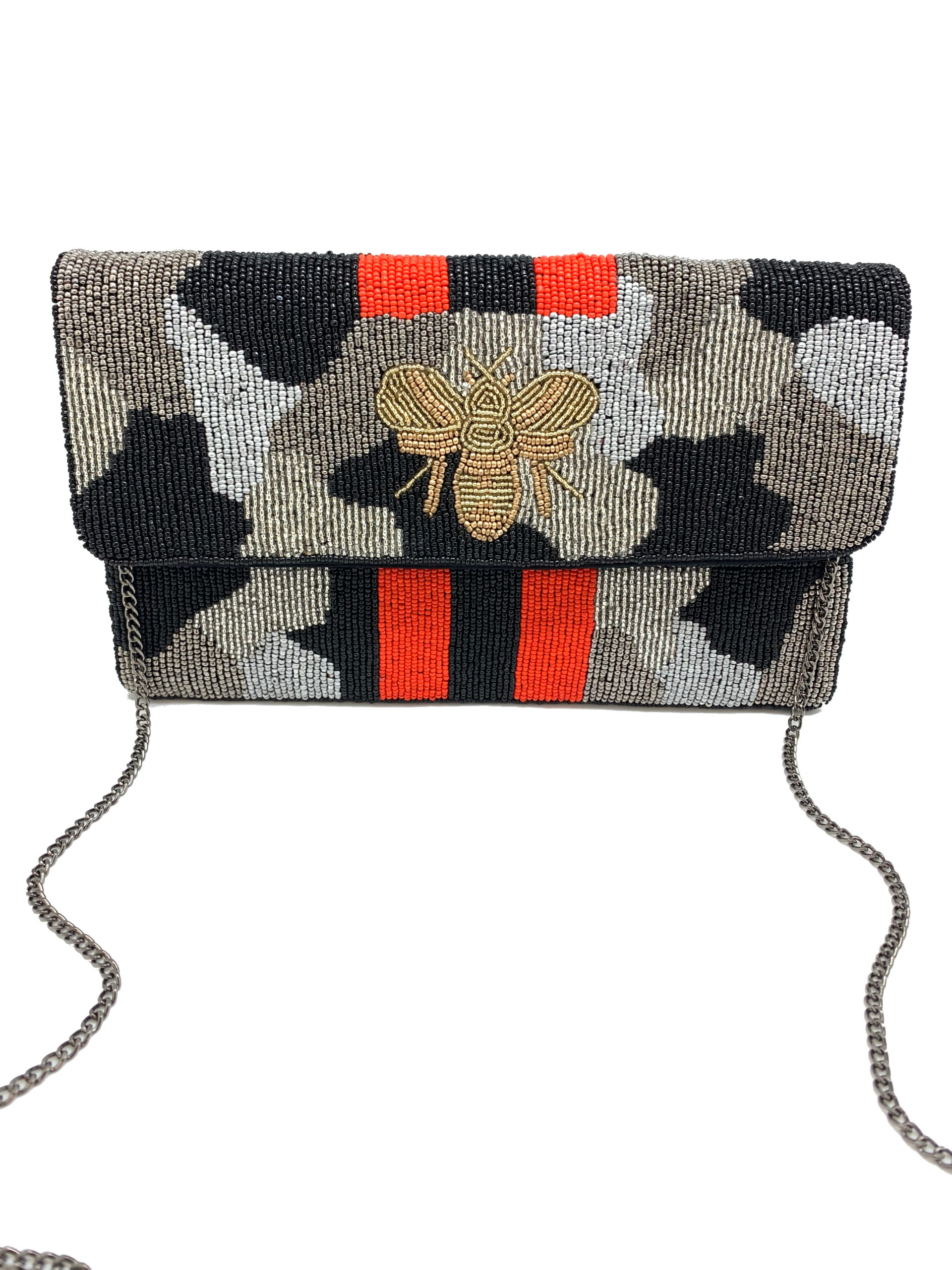 SILVER BLACK CAMO BEE BAG