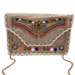 MULTI COLOR AZTEC CLUTCH