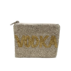 "BEADED ""VODKA"" COIN PURSE"