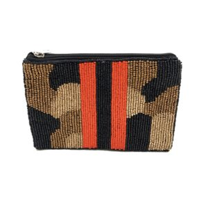 CAMO POUCH WITH RED BLACK STRIPES