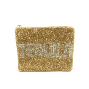 "GOLD BEADED 'TEQUILA"" POUCH"