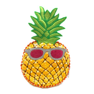 EMBROIDERED PINEAPPLE POUCH