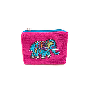 """ELEPHANT"" BEADED POUCH"