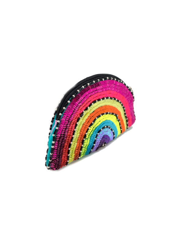 RAINBOW SEQUINS POUCH