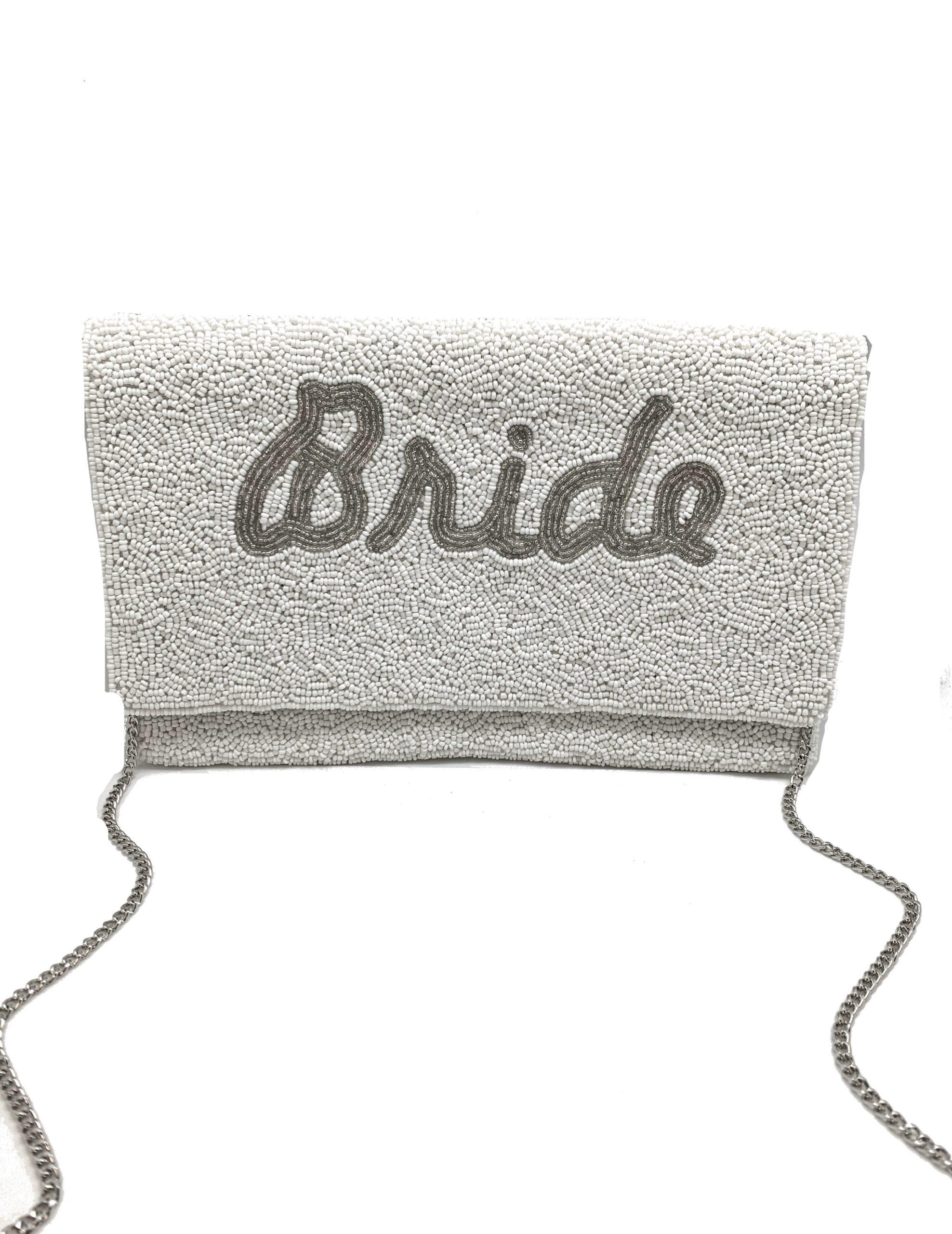 "SILVER"" BRIDE"" CLUTCH"