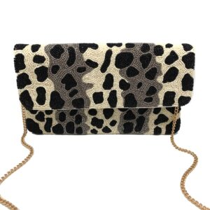 CHEETAH STRIPED CLUTCH
